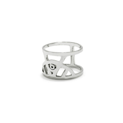 Illuminated Eye Ring - Silver - Bing Bang NYC - 1