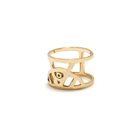 Illuminated Eye Ring - Gold - Bing Bang NYC - 3