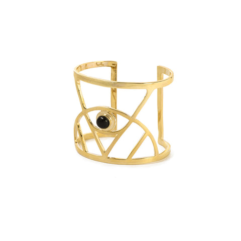 Illuminated Eye Cuff with Gemstone - Bing Bang NYC - 3