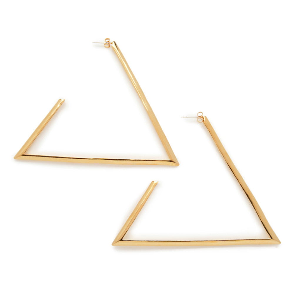 Large Triangle Hoops - Bing Bang Jewelry NYC