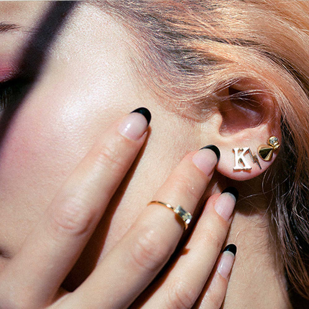 Lightning Bolt Studs - Bing Bang Jewelry NYC