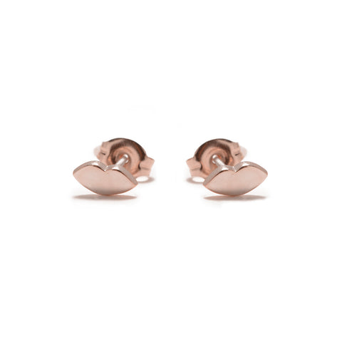 Kiss Studs-Rose Gold - Bing Bang Jewelry NYC