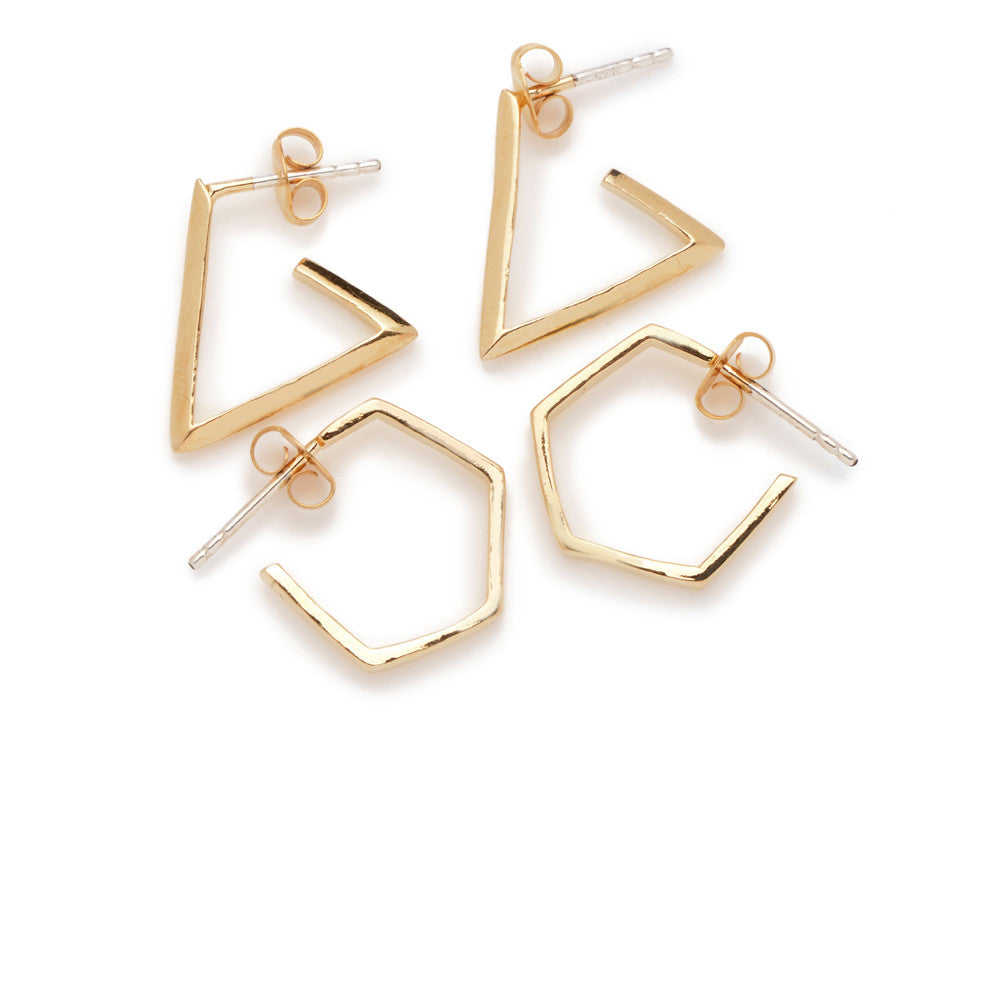 Little Triangle Hoops - Bing Bang Jewelry NYC
