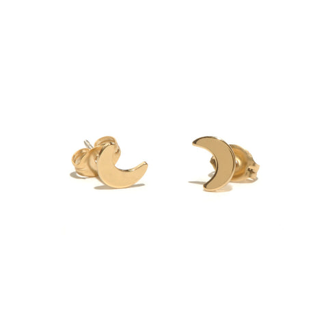 ✨14k Little Moon Stud - Bing Bang Jewelry NYC