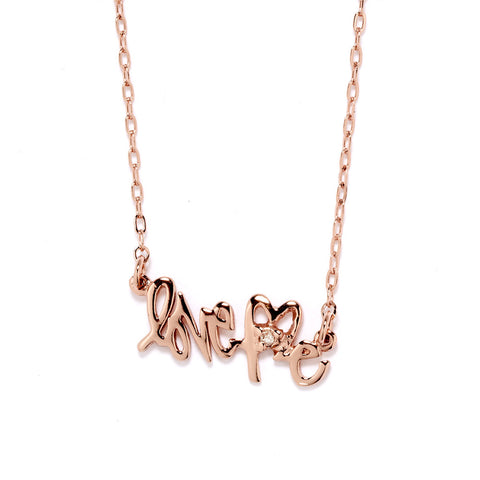 LoveMe Nameplate Necklace - Gold - Bing Bang NYC - 1