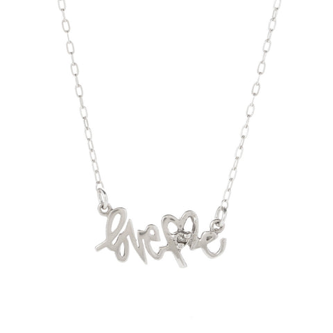 LoveMe Nameplate Necklace - Silver - Bing Bang NYC - 1