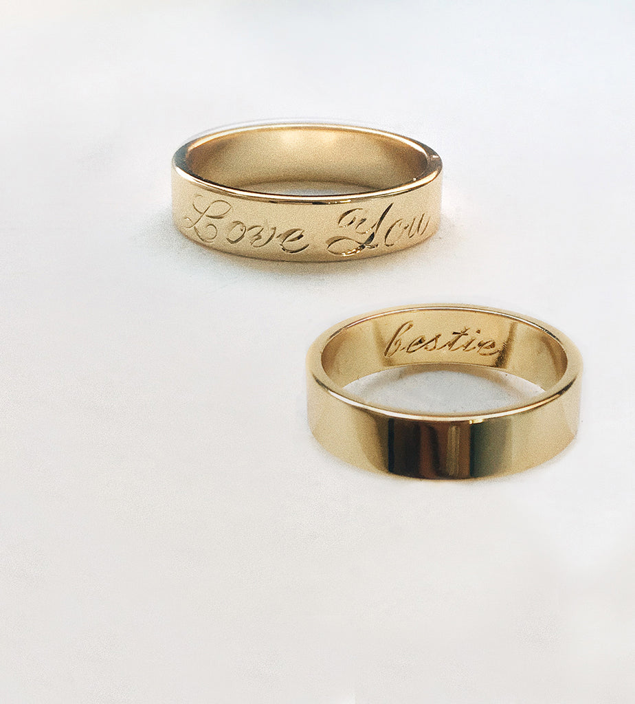 Custom Engraving - Bing Bang Jewelry NYC