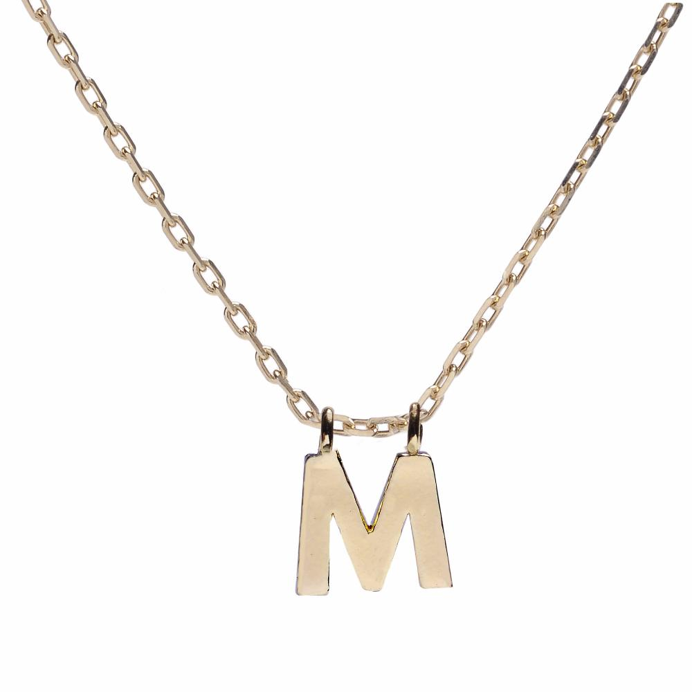 Minimal Initial Necklace - Bing Bang Jewelry NYC