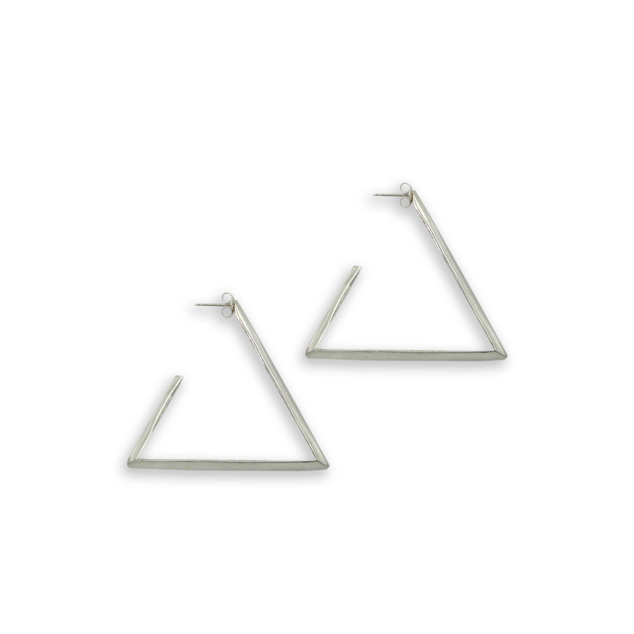 Medium Triangle Hoops - Bing Bang Jewelry NYC