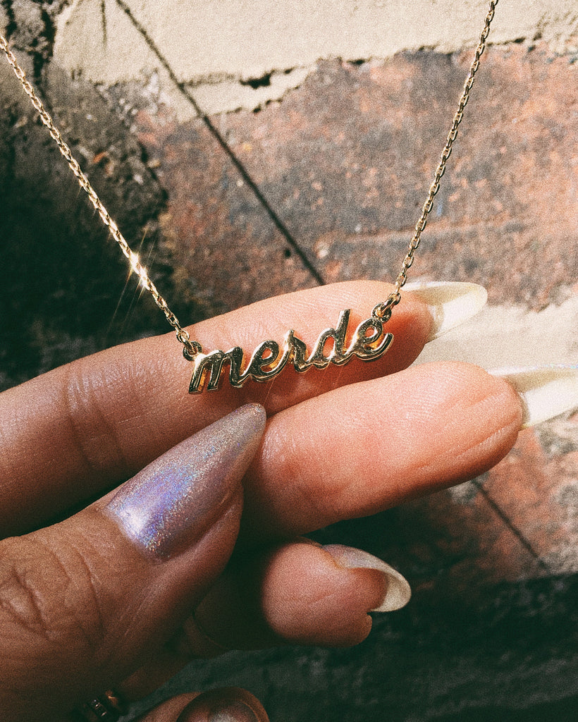 Merde Necklace - Bing Bang Jewelry NYC