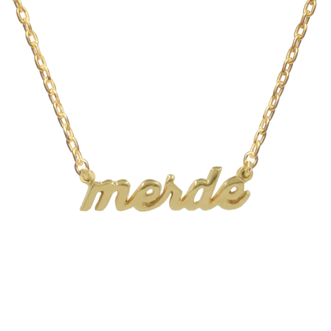 Merde Necklace - Bing Bang NYC