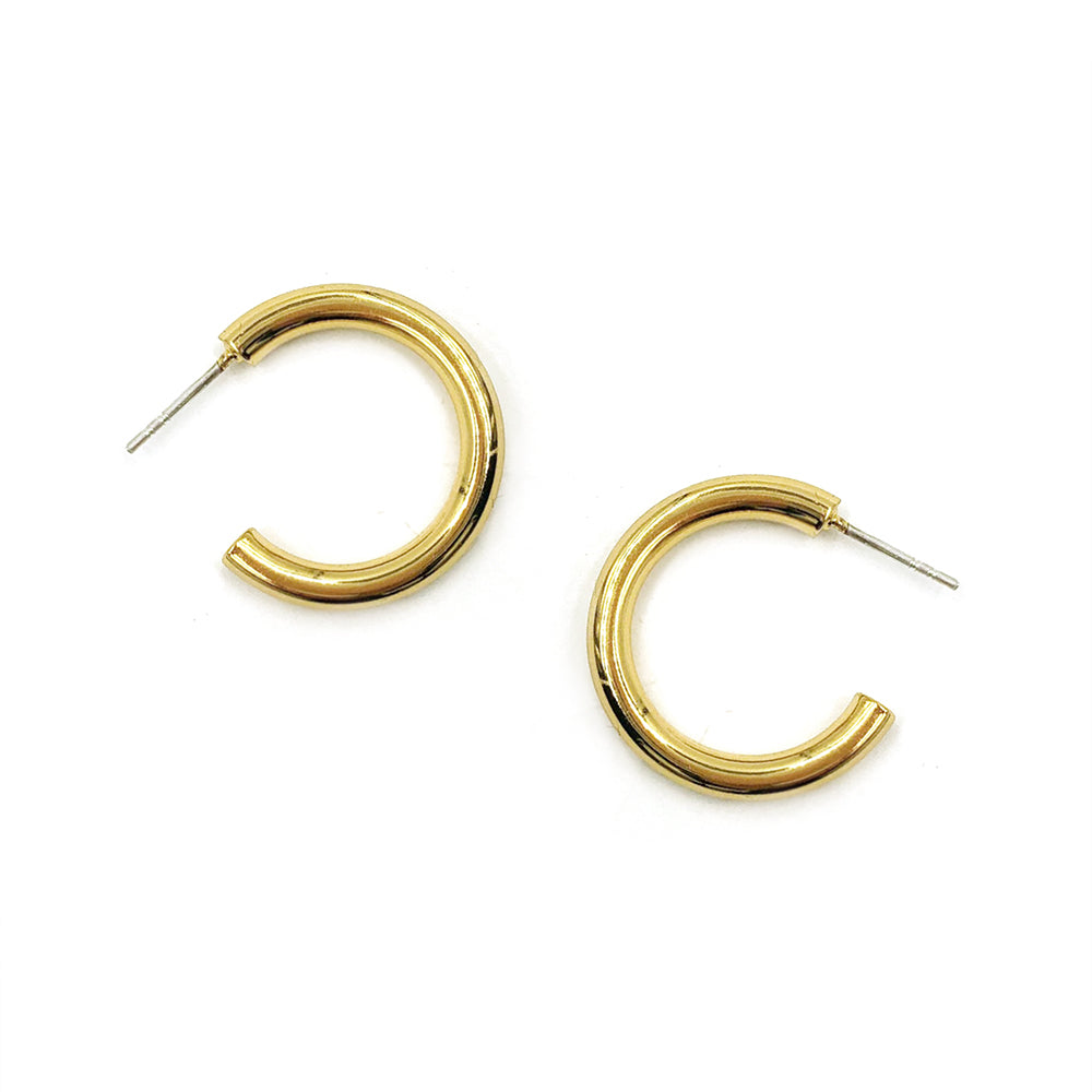Midi Drew Hoops - Bing Bang Jewelry NYC