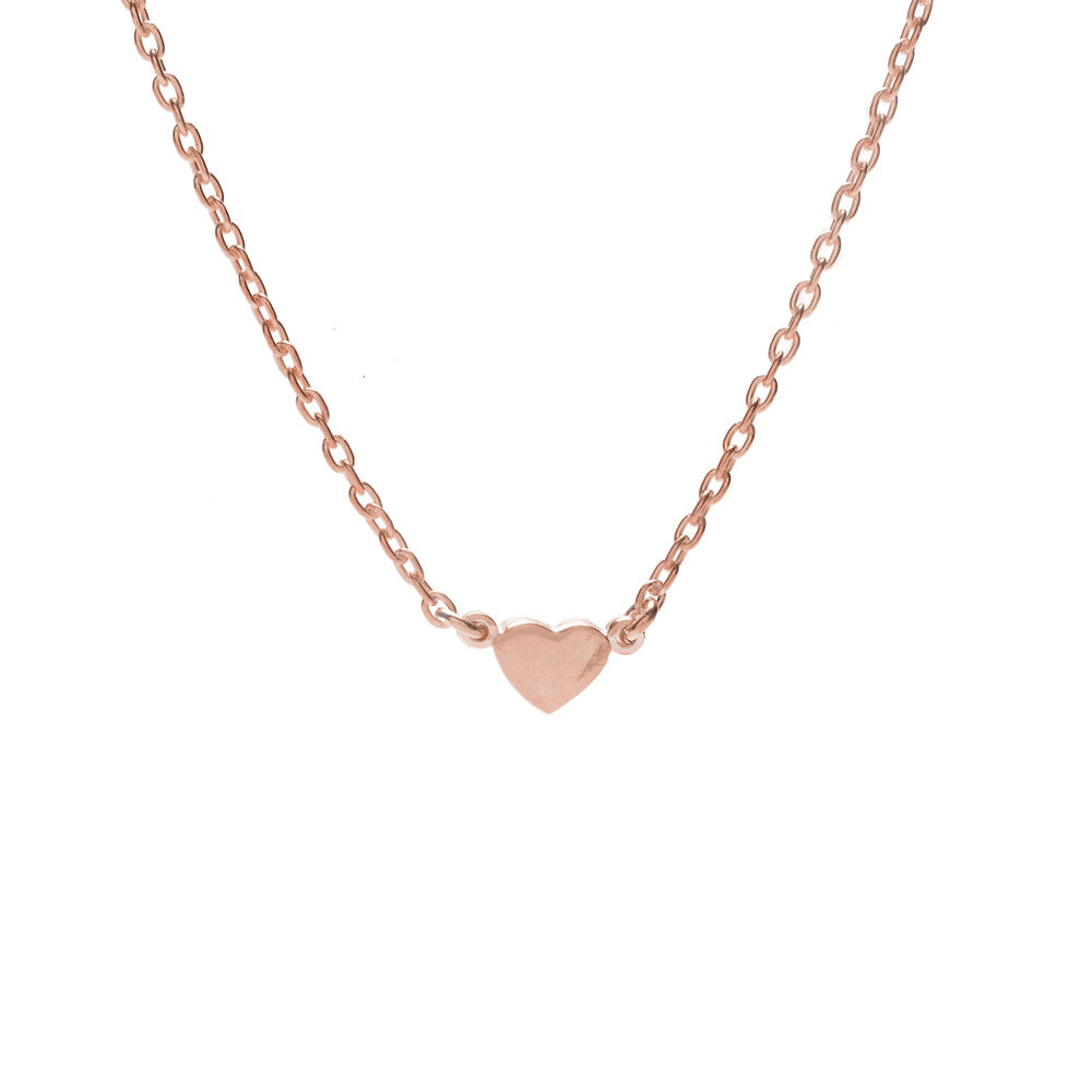 Baby Heart Necklace-Rose Gold - Bing Bang NYC