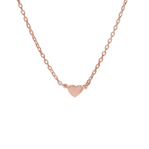 Baby Heart Necklace-Rose Gold - Bing Bang Jewelry NYC