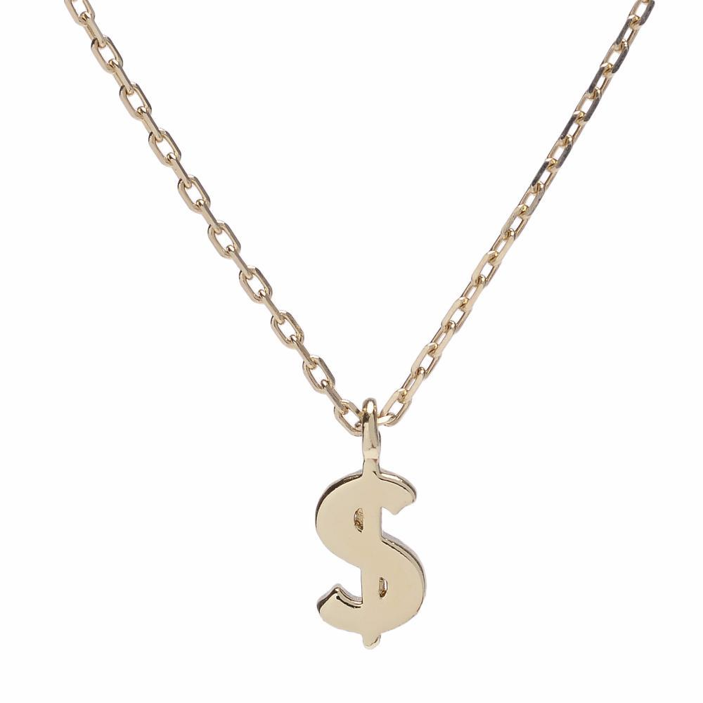 $ Dollar Sign Necklace - Bing Bang Jewelry NYC