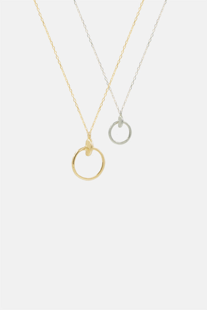 Moon Hoop Necklace - Large - Bing Bang Jewelry NYC