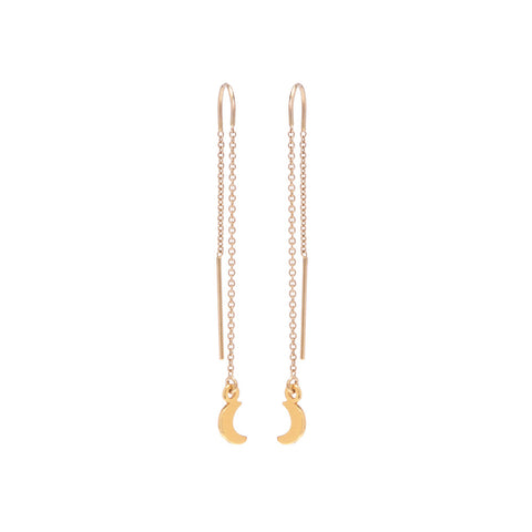 Little Moon Threader Earrings - Bing Bang NYC - 1