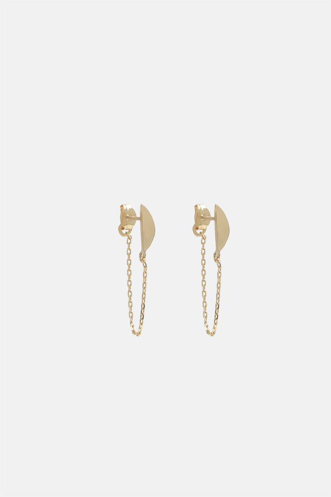Moonbeam Continuous Earrings - Bing Bang Jewelry NYC