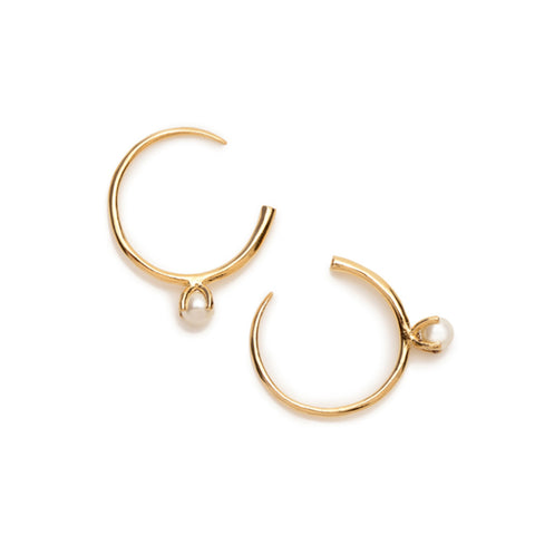 Pearl Open Hoops - Bing Bang NYC - 1