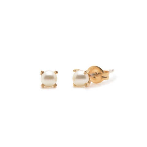 Tiny Pearl Studs - Bing Bang Jewelry NYC