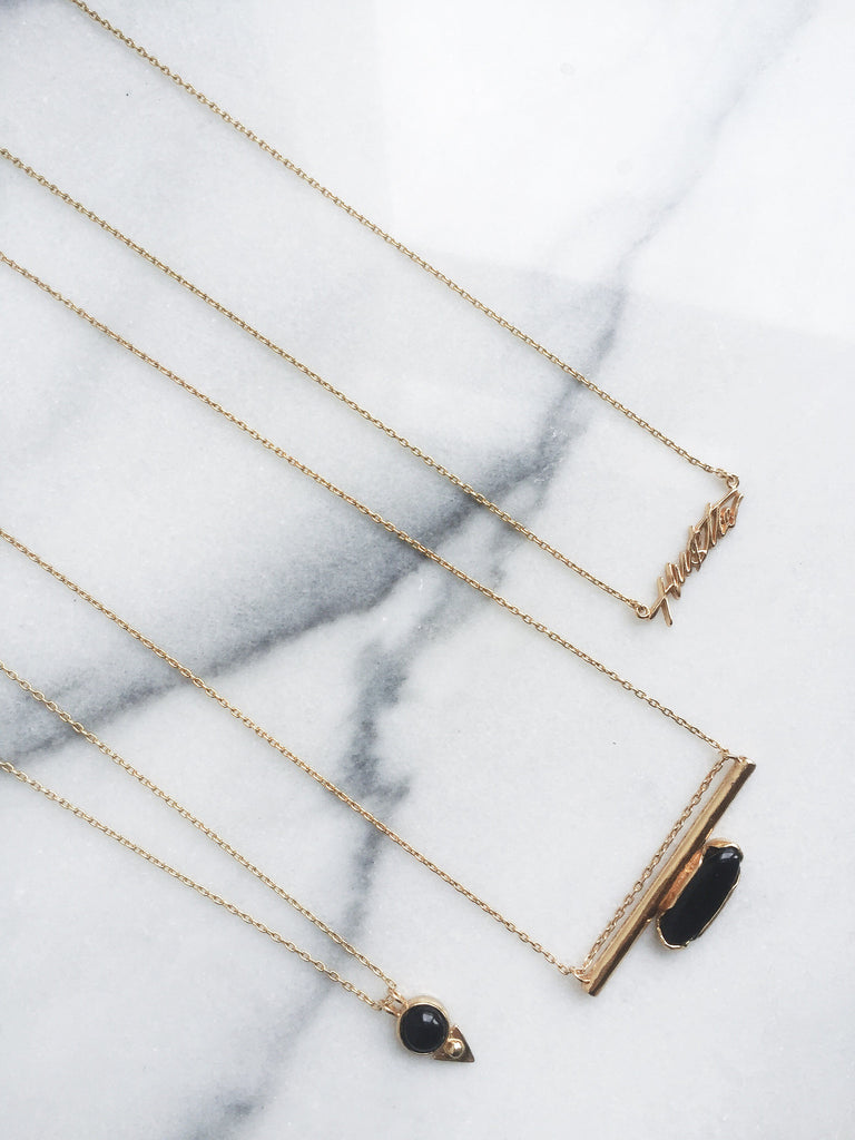 Horizon Line Necklace - Gold - Bing Bang NYC - 5