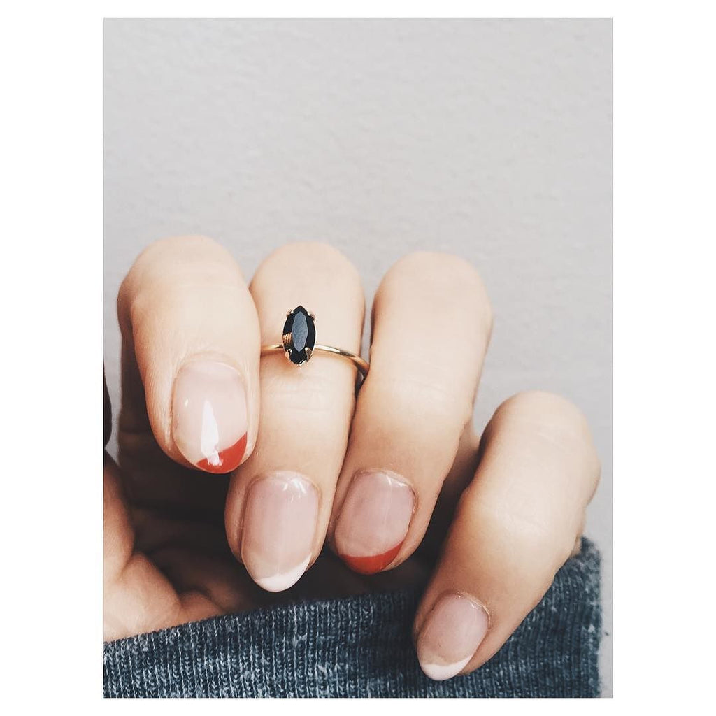 Tiny Marquis Ring - Jet Black Crystal - Bing Bang NYC - 5