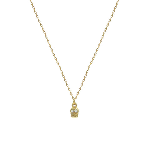 Crystal Skully Necklace - LIMITED TIME ONLY! - Bing Bang Jewelry NYC