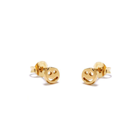 ✨14k Smiley Face Stud - Bing Bang Jewelry NYC