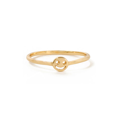 Smiley Face Ring - Bing Bang Jewelry NYC