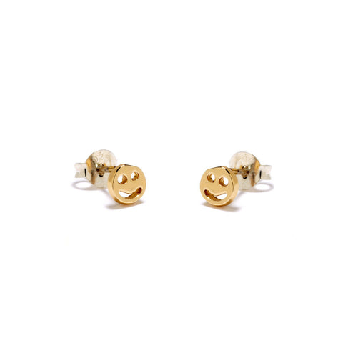 Smiley Face Studs - Bing Bang Jewelry NYC