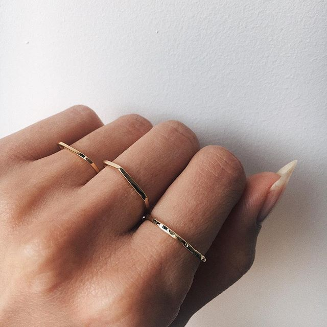 Delicate Hammered Band - Bing Bang Jewelry NYC