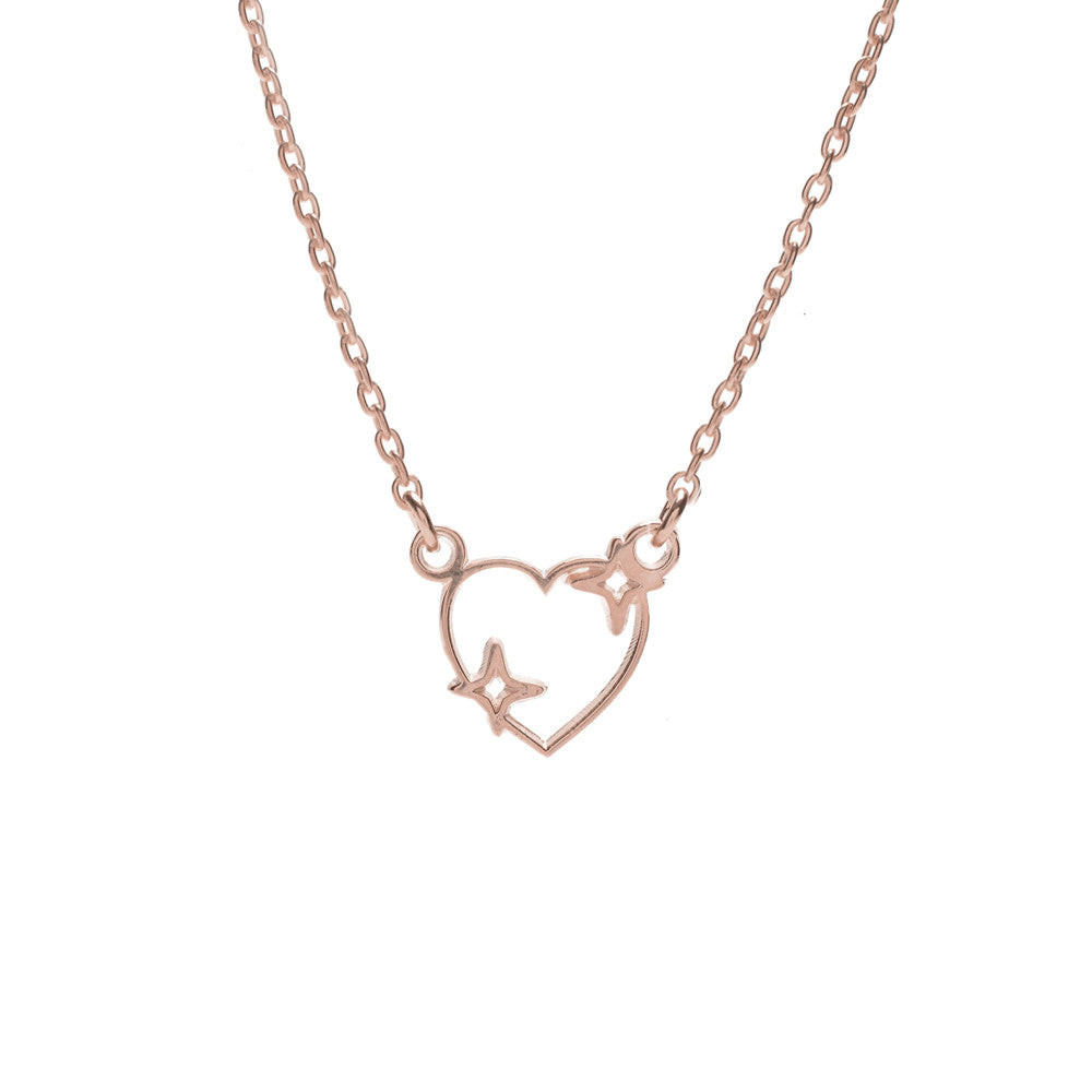 Sparkle Heart Necklace - Bing Bang Jewelry NYC