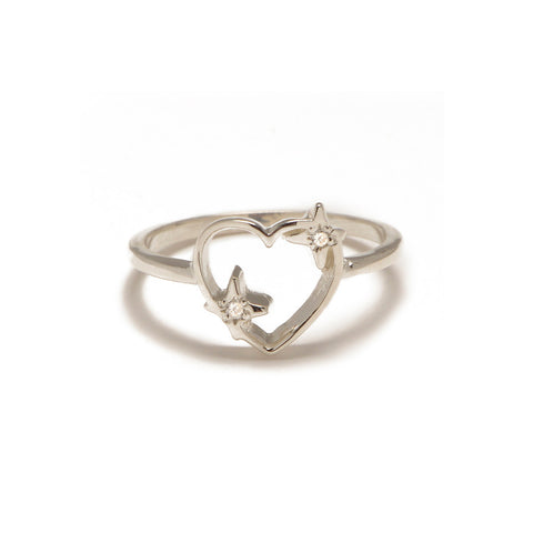 Sparkle Heart Ring with Diamond Accents - Bing Bang NYC - 3