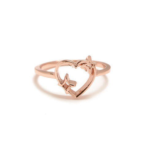 Sparkle Heart Ring - Bing Bang Jewelry NYC