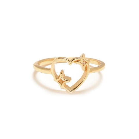 Sparkle Heart Ring - Bing Bang NYC