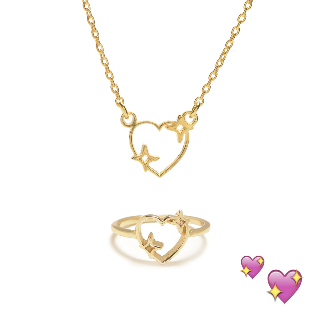 Sparkle Heart Set (Necklace & Ring) - Bing Bang NYC - 4