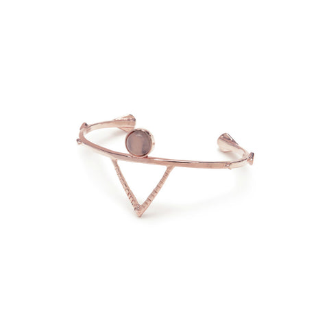Temple Amulet Cuff - Rose Quartz - Bing Bang Jewelry NYC