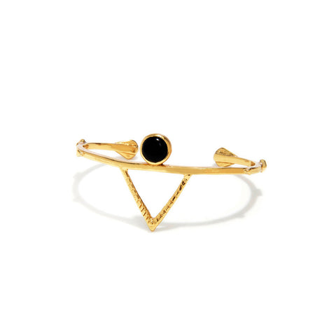 Temple Amulet Cuff - Onyx - Bing Bang Jewelry NYC
