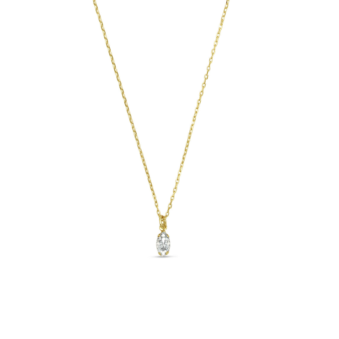 Tiny Marquis Necklace - Bing Bang Jewelry NYC
