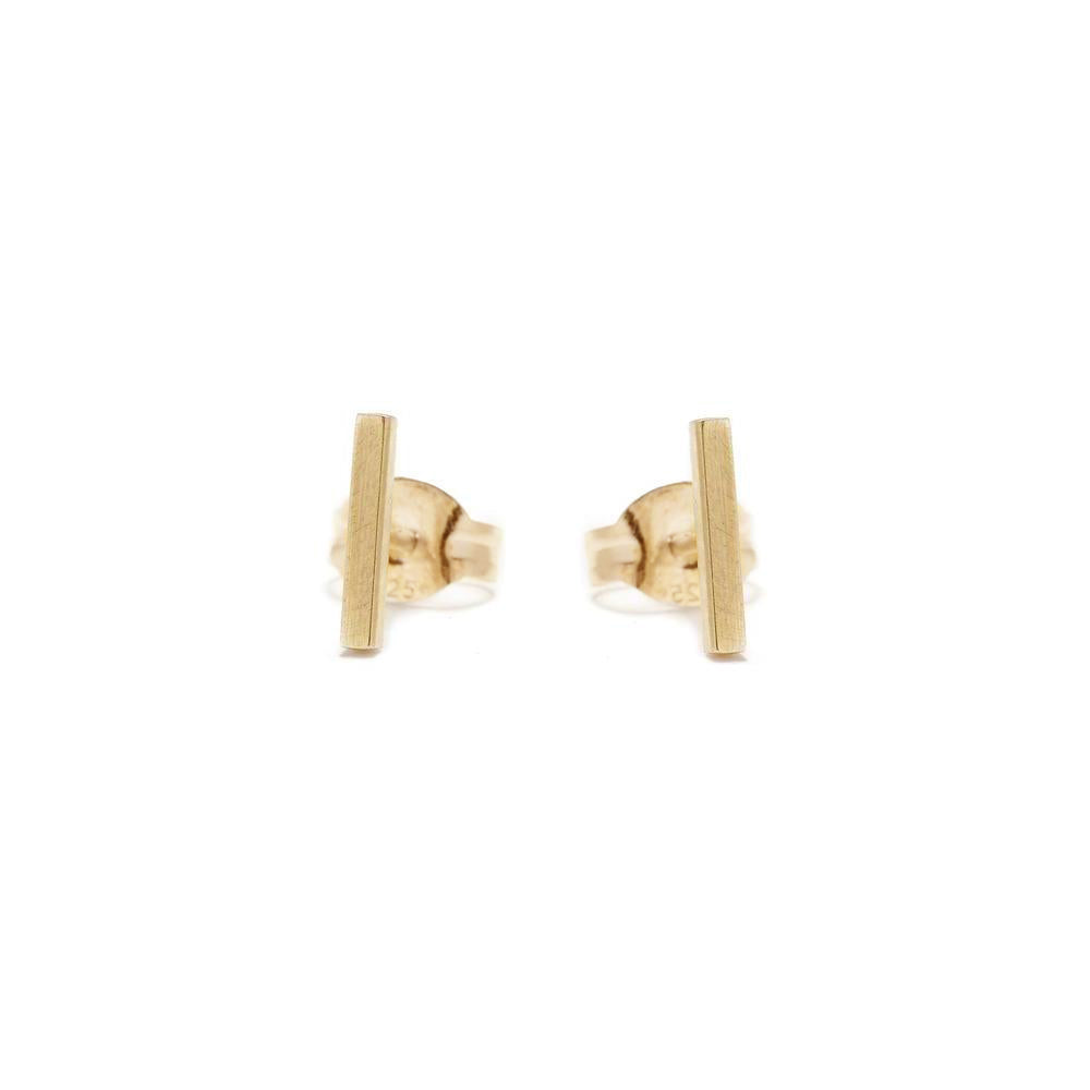 ✨14k Tiny Bar Stud - Bing Bang Jewelry NYC