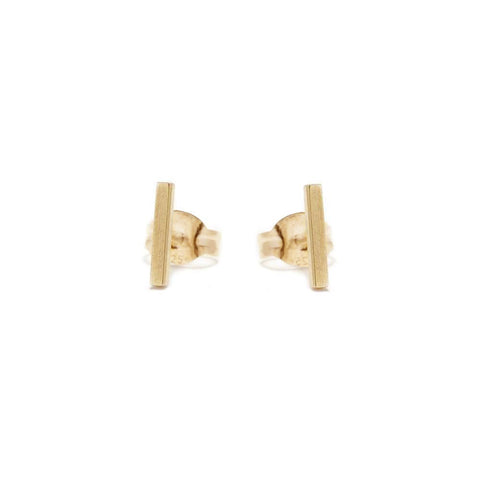 ✨14k Tiny Bar Stud - Bing Bang NYC