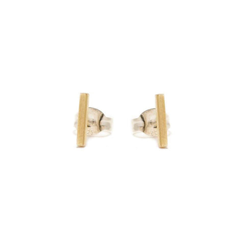 Tiny Bar Studs - Bing Bang Jewelry NYC