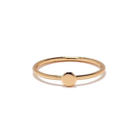 Tiny Circle Ring - Bing Bang Jewelry NYC