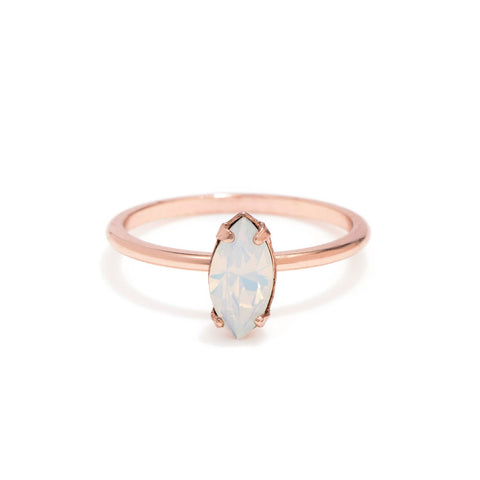 Tiny Marquis Ring - Opal Crystal - Bing Bang NYC - 1