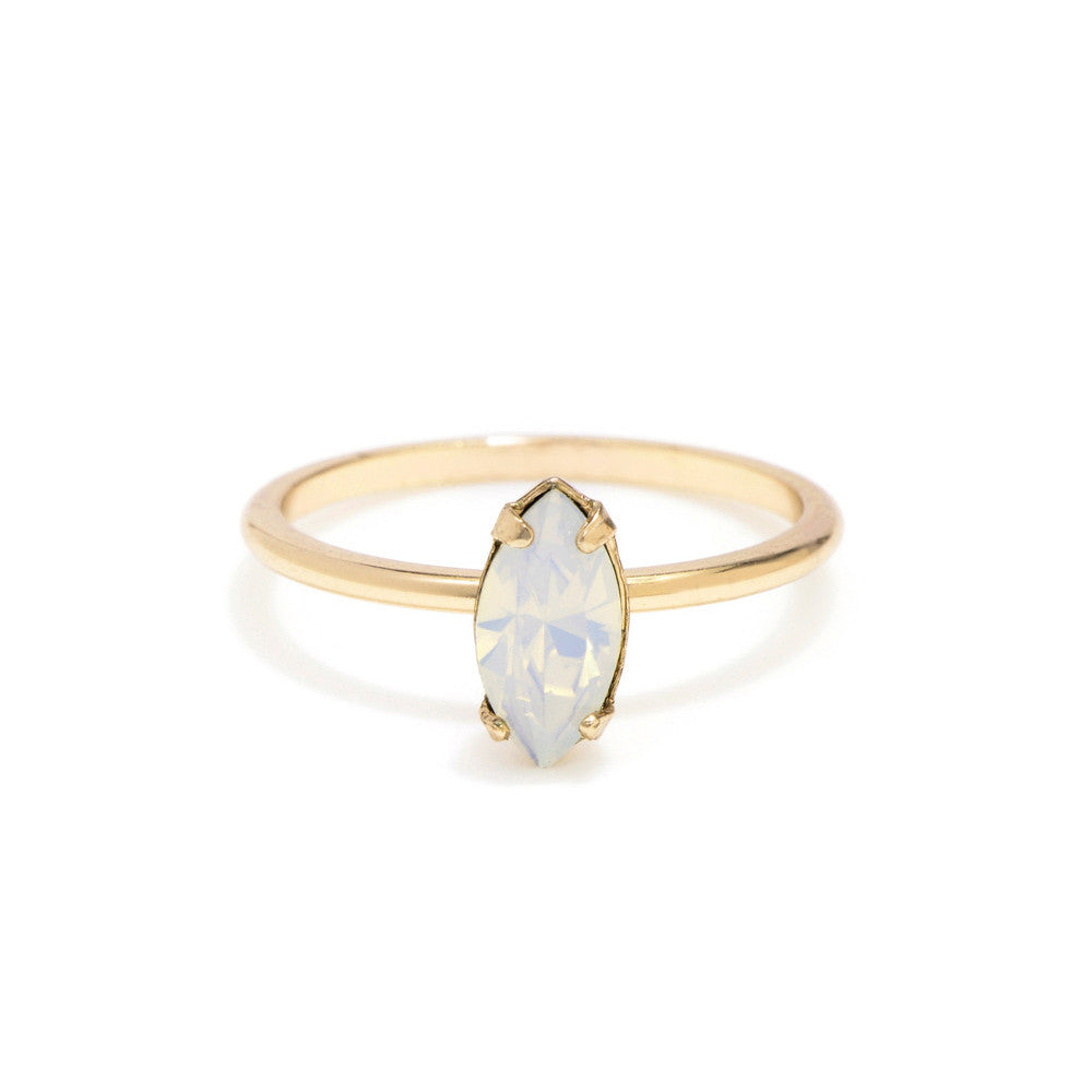 59675745e Tiny Marquis Ring - Opal Crystal - Bing Bang Jewelry NYC