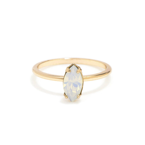 Tiny Marquis Ring - Opal Crystal - Bing Bang Jewelry NYC