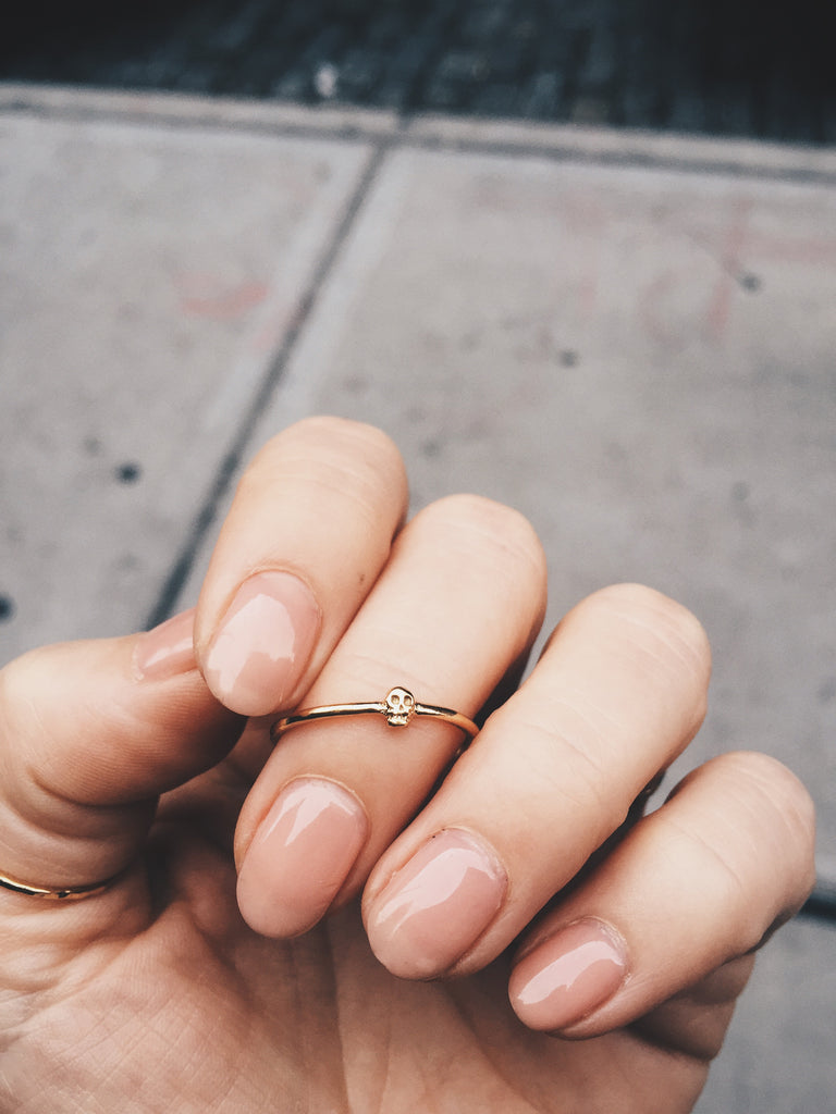 Tiny Skull Ring - Bing Bang Jewelry NYC