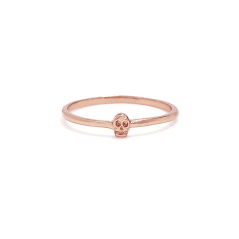 Tiny Skull Ring-Rose Gold - Bing Bang Jewelry NYC