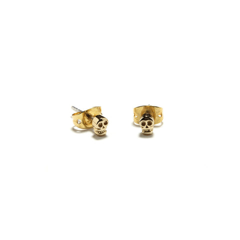 Tiny Skull Studs - Bing Bang Jewelry NYC