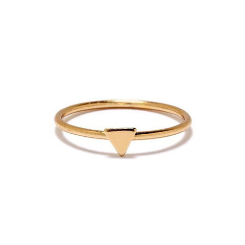 Tiny Triangle Ring - Bing Bang Jewelry NYC